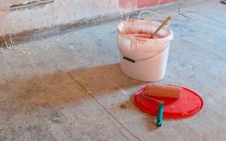 peindre un sol en béton