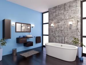 Peindre les murs de votre salle de bain