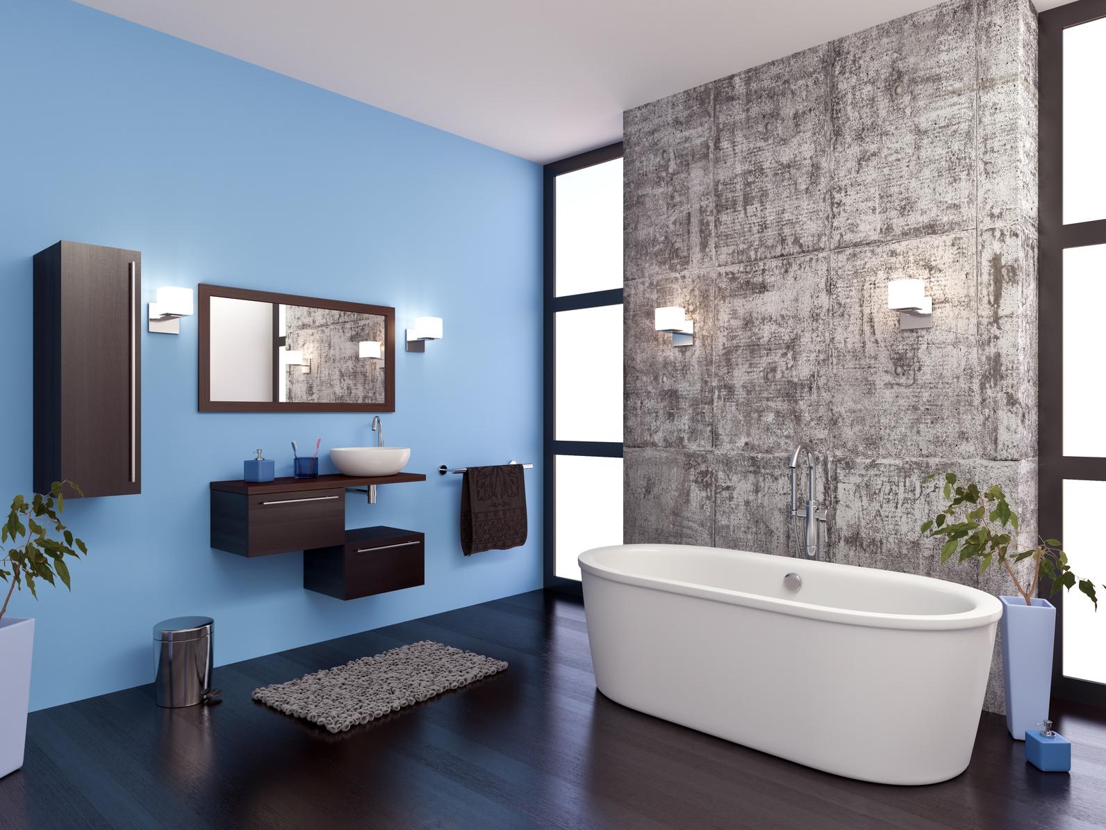 Peinture murs salle de bain