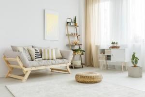 salon peint en beige