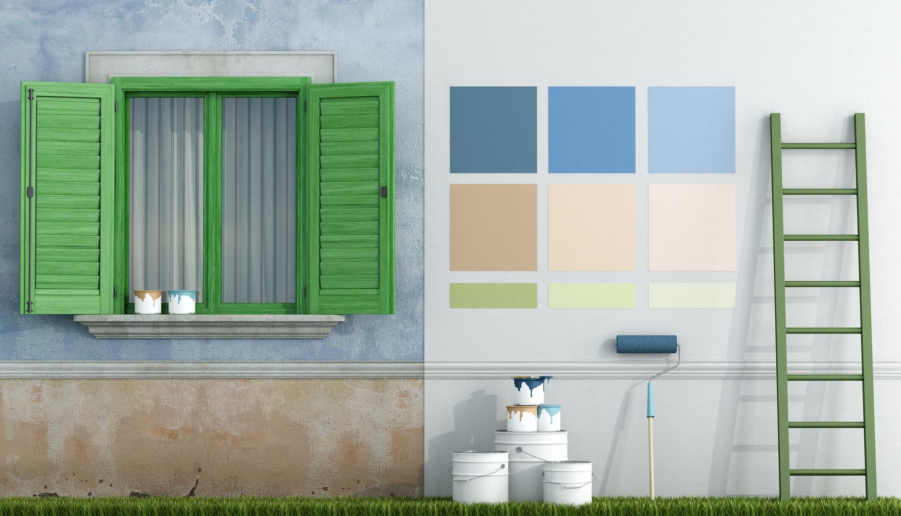 peinture mur ext rieur les conseils peinture pour vos ext rieurs. Black Bedroom Furniture Sets. Home Design Ideas