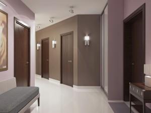 peinture de couloir taupe