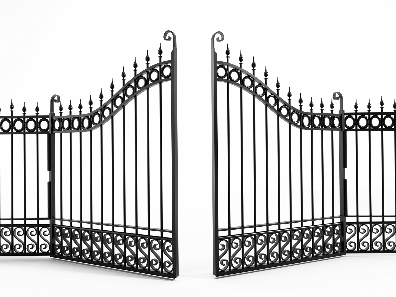metal gates. Black Bedroom Furniture Sets. Home Design Ideas