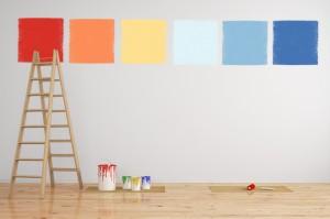 Décoration peinture dans un salon