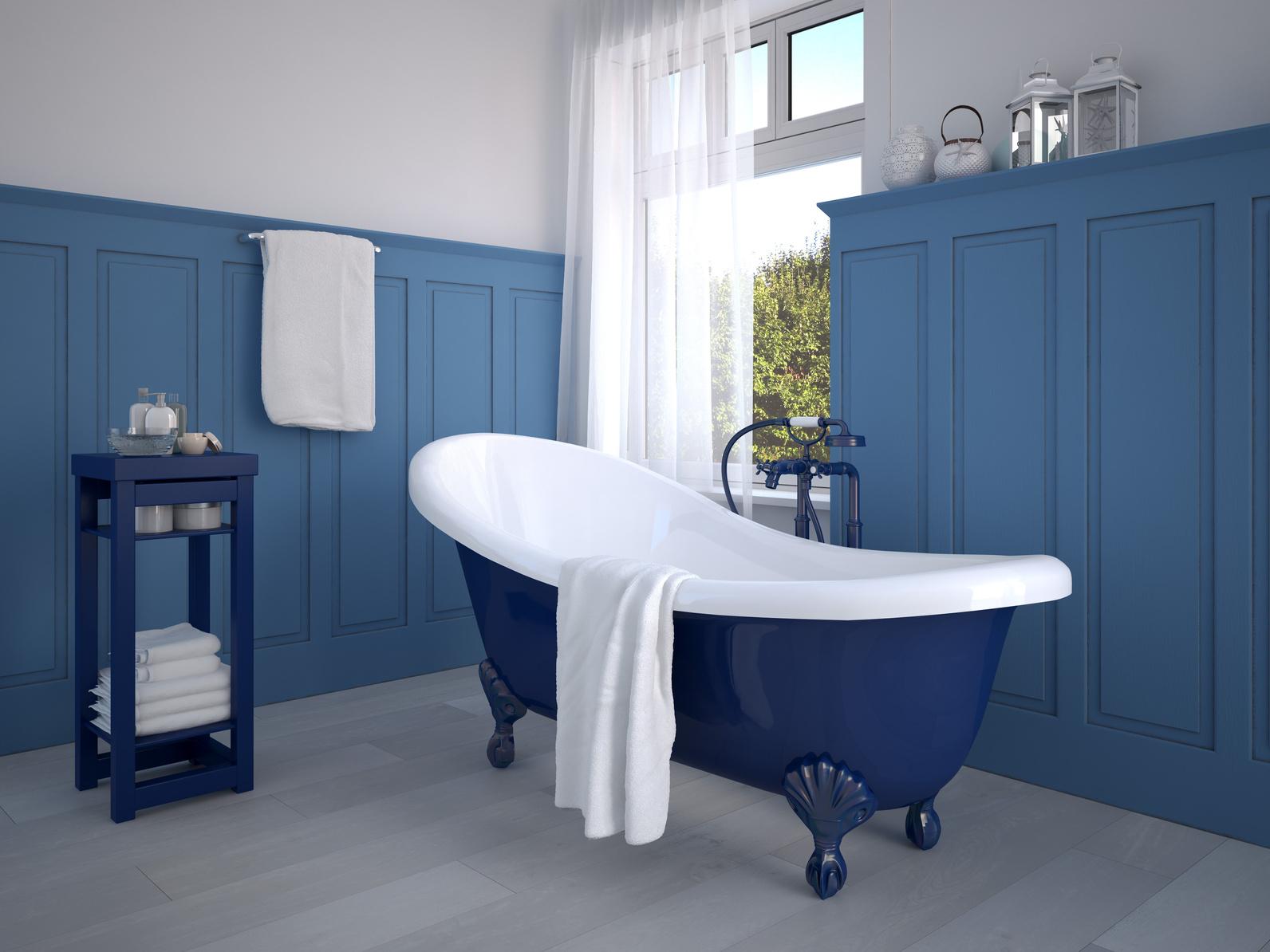 Peinture salle de bain couleur - Peindre une salle de bain ...