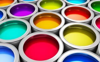 Pots peinture vinylique.