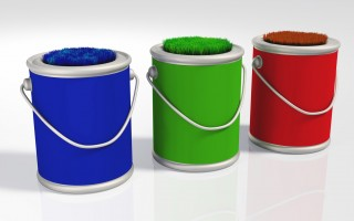 Pots peinture écologique.