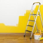 Peindre avec acrylique murs.