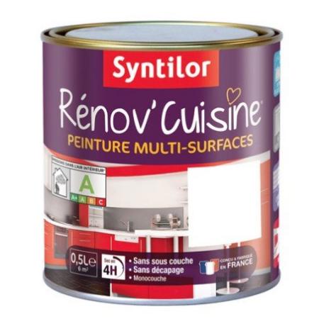 Peinture Cuisine Syntilor Blanc ...