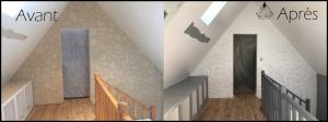 Comparatif de peinture d'un parement