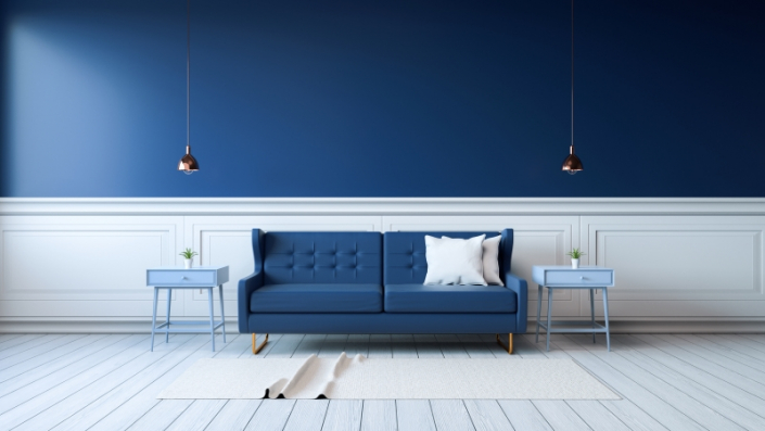 Couleur de peinture d'un salon moderne