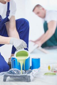 Les outils des peintres du bâtiment